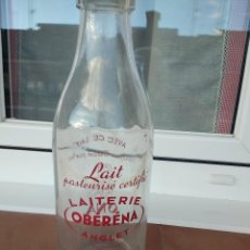 Botellas antiguas: BOTELLA DE LECHE BOCA ANCHA OBERENA ONA ANGLET . Lote 141141386