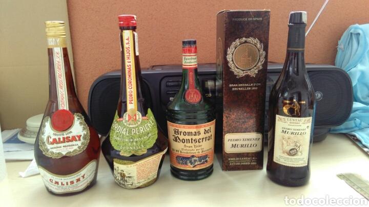 BOTELLAS VACIAS DE CALISAY, CORDIAL PERICKET, AROMAS Y P.X. LUSTAU. (Coleccionismo - Botellas y Bebidas - Botellas Antiguas)