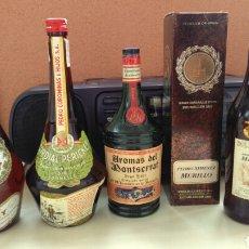 Botellas antiguas: BOTELLAS VACIAS DE CALISAY, CORDIAL PERICKET, AROMAS Y P.X. LUSTAU.. Lote 141313062