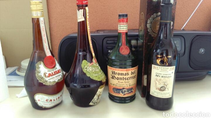 Botellas antiguas: BOTELLAS VACIAS DE CALISAY, CORDIAL PERICKET, AROMAS Y P.X. LUSTAU. - Foto 2 - 141313062