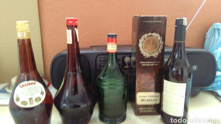 Botellas antiguas: BOTELLAS VACIAS DE CALISAY, CORDIAL PERICKET, AROMAS Y P.X. LUSTAU. - Foto 3 - 141313062