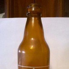 Botellas antiguas: BOTELLA CERVEZA CALATRAVA 1/3. Lote 143676858