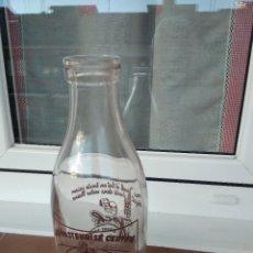 Botellas antiguas: BOTELLA DE LECHE BOCA ANCHA ST. MARTIN -JOCK / DRIOLLET. Lote 143310446