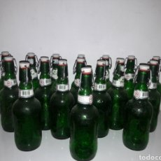 Botellas antiguas: LOTE BOTELLAS DE CERBESA. Lote 143840997