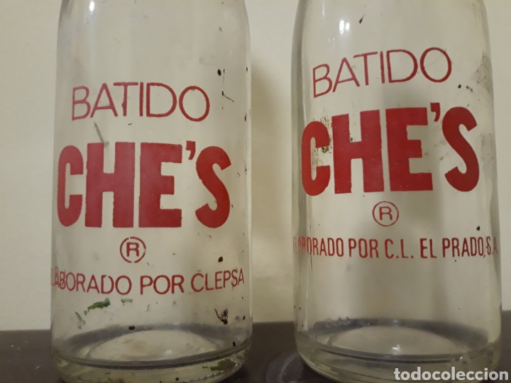 Botellas antiguas: Botellas batidos che,s - Foto 2 - 143934741
