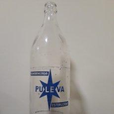 Botellas antiguas: BOTELLA LECHE PULEVA 1LITRO. Lote 143937550