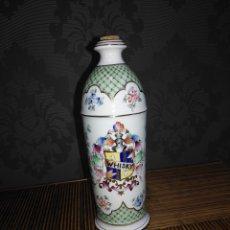 Botellas antiguas: BOTELLA PORCELANA WHISKY, DE SALVADOR MALLOL SELLADO . PRECIOSA.. Lote 144369350