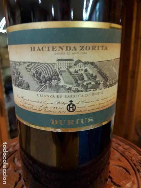 Botellas antiguas: Botella de vino de 3 Litros Hacienda Zurita (vacia) - Foto 2 - 146164010