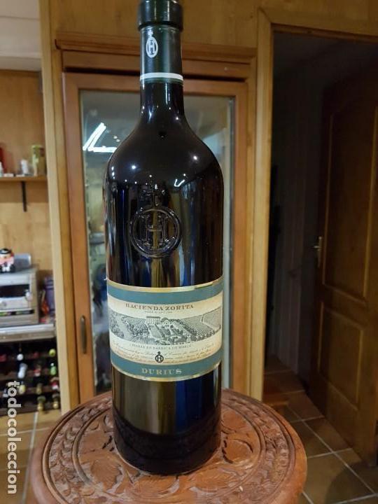 BOTELLA DE VINO DE 3 LITROS HACIENDA ZURITA (VACIA) (Coleccionismo - Botellas y Bebidas - Botellas Antiguas)