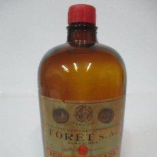 Botellas antiguas: ANTIGUA BOTELLA AGUA OXIGENADA - FABRICA PRODUCTOS QUÍMICOS Y FARMACÉUTICOS, FORET. Lote 148053246