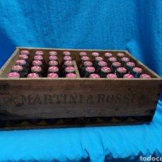 Botellas antiguas: ANTIGUA CAJA COMPLETA MARTINI & ROSSI BITTER 40 BOTELLINES LLENOS. Lote 148246465
