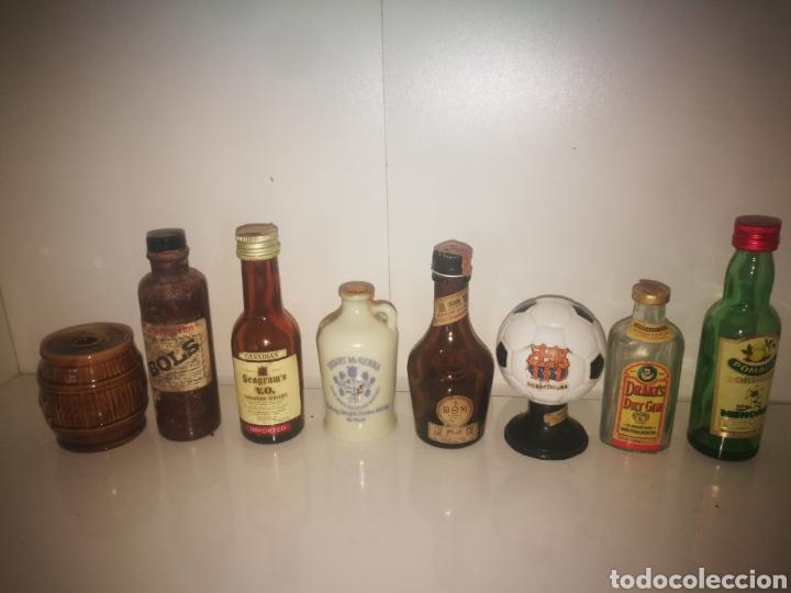 Botellas antiguas: Estupendo lote de + de 70 botellines antiguos todos llenos - Foto 16 - 151845360