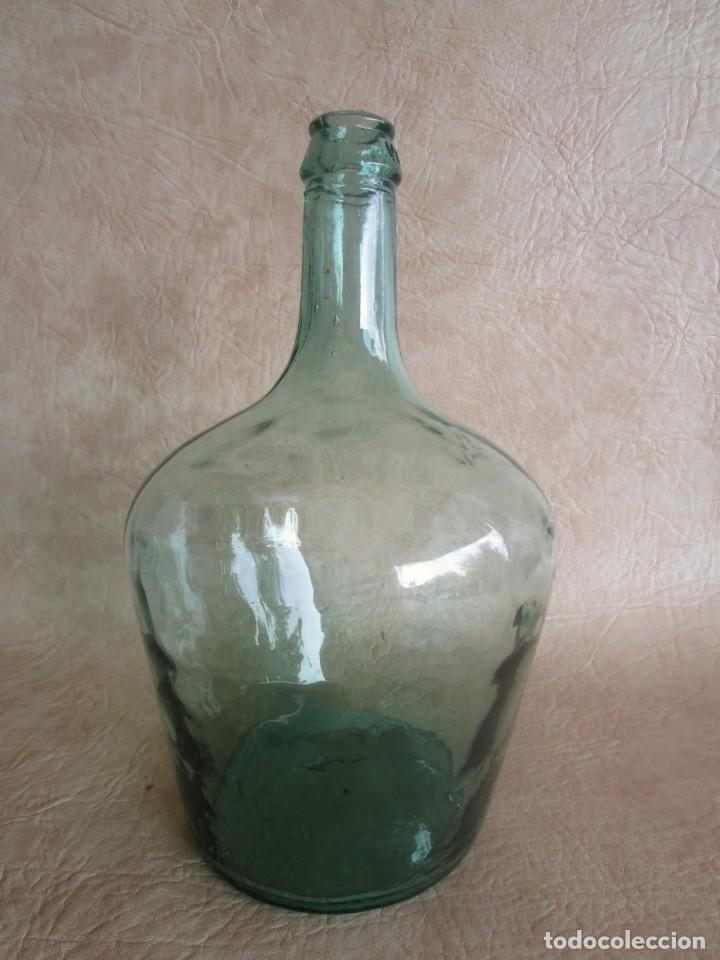 BOTELLA DAMAJUANA CRISTAL VERDE 2 LITROS VIRESA (Coleccionismo - Botellas y Bebidas - Botellas Antiguas)