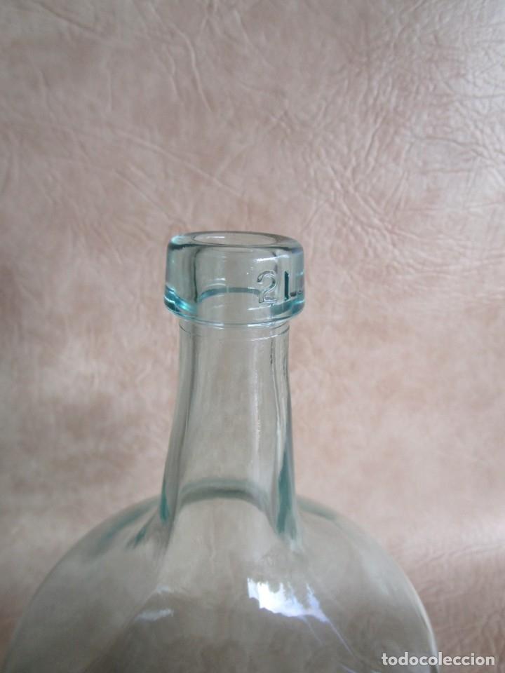 Botellas antiguas: botella cristal damajuana 2 litros - Foto 3 - 32833236