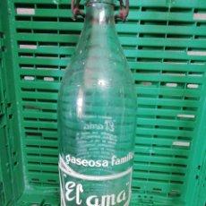 Botellas antiguas: BOTELLA DE GASEOSA EL AMA PONTEVEDRA. Lote 153436785