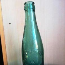 Botellas antiguas: BOTELLA GASEOSA ESPUMOSOS LA PILARICA BARDAVIO ALCAÑIZ 250CC LETRAS EN RELIEVE. Lote 154585802
