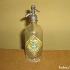 Botellas antiguas: SIFÓN MINIATURA PUBLICIDAD ANIS ESMERALDA. SIFON MINI.. Lote 155163786