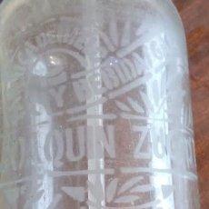 Botellas antiguas: SIFON JOAQUIN ZUGASTI IRUN FABRICA DE HIELOS Y BEBIDAS GASEOSAS . Lote 156874962