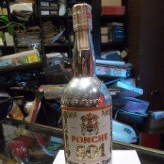 Botellas antiguas: PONCHE 501 CARLOS Y JAVIER DE TERRY BOTELLA CON PRECINTO DE 4 PESETAS / SIN ABRIR (SR). Lote 156881482