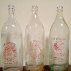 Botellas antiguas: BOTELLAS LECHE LITRO. Lote 157768630