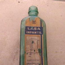 Botellas antiguas: ANTIGUO FRASCO DE FARMACIA JARABE LASA INFANTIL - LABORATORIOS LASA -. Lote 159254594