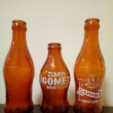 Botellas antiguas: BOTELLAS ZUMOS GÓMEZ. Lote 160737720