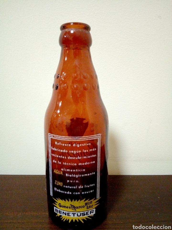 Botellas antiguas: Botella naranja t sanguina gomez marco hnos, - Foto 2 - 160738860