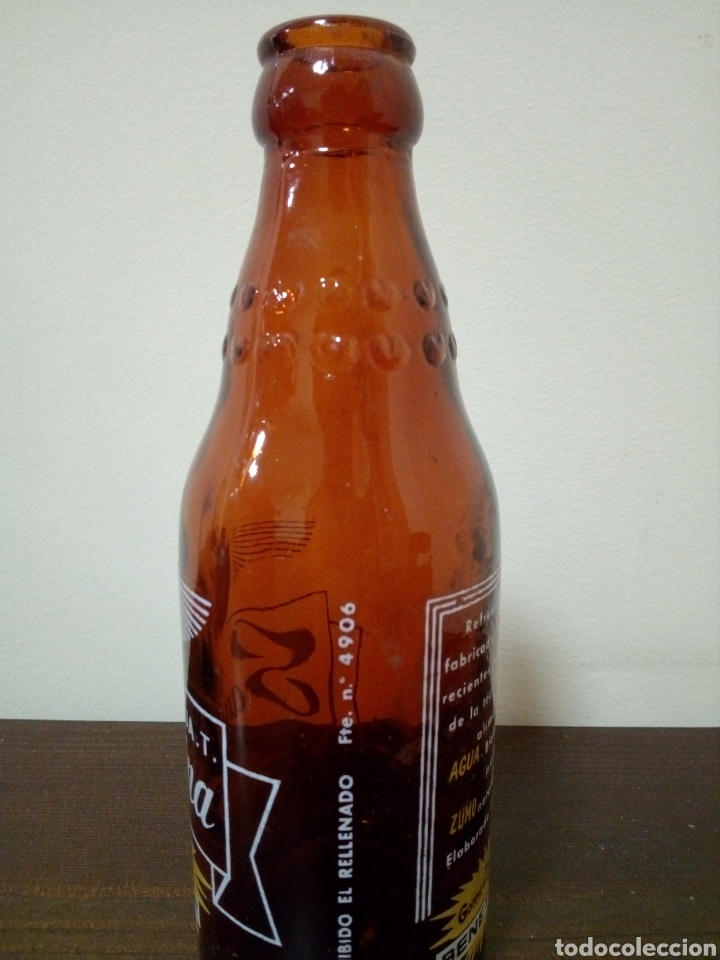 Botellas antiguas: Botella naranja t sanguina gomez marco hnos, - Foto 3 - 160738860
