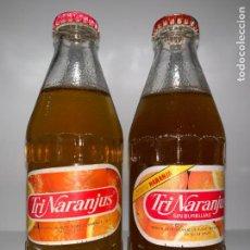 Botellas antiguas: LOTE DE 2 BOTELLAS DE TRINARANJUS, LLENAS. Lote 160881850