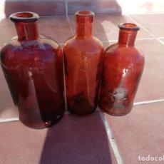 Botellas antiguas: LOTE 3 ANTIGUA BOTELLA DISA INDUSTRIAL CANARIAS EN RELIEVE, AÑOS 60 Y 70. Lote 161160554