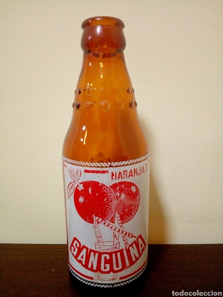 BOTELLA NARANJA T SANGUINA (Coleccionismo - Botellas y Bebidas - Botellas Antiguas)