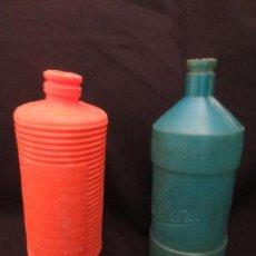 Botellas antiguas: BOTELLAS DE LEJIA LA CASTELLANA Y PEPIN EN PLASTICO AÑOS 40. Lote 161674210