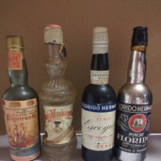 Botellas antiguas: LOTE 2 BOTELLAS MINIATURA. Lote 162040354
