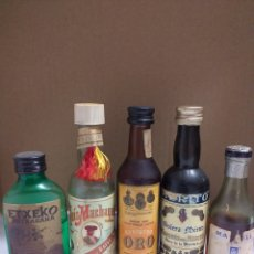 Botellas antiguas: LOTE 16 BOTELLAS MINIATURA. Lote 162059384