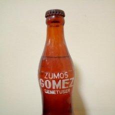 Botellas antiguas: BOTELLA ZUMOS GÓMEZ LLENA. Lote 163416108