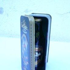 Botellas antiguas: BOTELLITA GLENFIDDICH EN SU LATA. SCOTCH WHISKY SINGLE MALT. SIN ABRIR. Lote 163799162