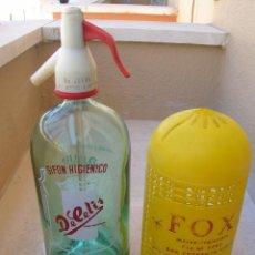 Botellas antiguas: SIFÓN FOX, DECELIS SAN FERNANDO ( CÁDIZ ). RARÍSIMO, NUNCA VISTO EN LA WEB.. Lote 165979318
