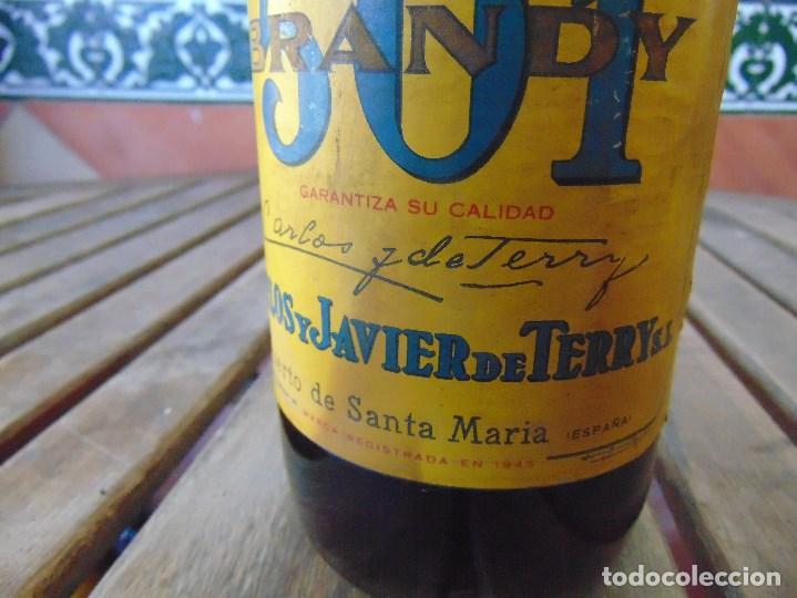 Botellas antiguas: ANTIGUA BOTELLA DE BRANDY 501 - Foto 5 - 166189226
