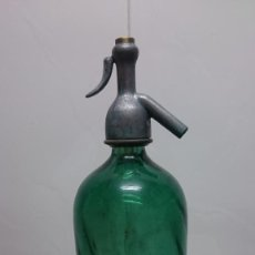Botellas antiguas: ANTIGUO SIFON CRISTAL VERDE. Lote 167456108