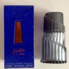 Botellas antiguas: ENVÍO 6€. BOTELLA VACÍA DE LA LOCIÓN MONTANA HOMME CON SU CAJA ORIGINAL DE 75ML. Lote 167649588