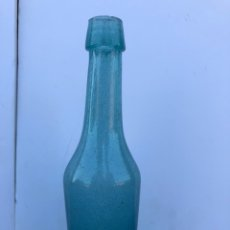 Botellas antiguas: ANTIGUA RARA BOTELLA DE CRISTAL SOPLADO. Lote 169948281