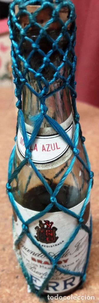 Botellas antiguas: BOTELLIN DE BRANDY TERRY. FERNANDO A. DE TERRY. PUERTO DE SANTA MARIA. 12 CMS - Foto 2 - 169964260