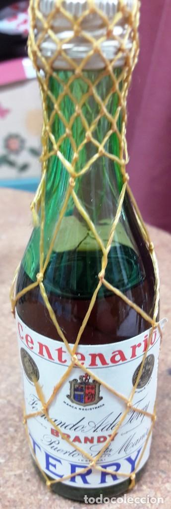 Botellas antiguas: BOTELLIN DE BRANDY TERRY. FERNANDO A. DE TERRY. PUERTO DE SANTA MARIA. 12 CMS - Foto 3 - 169964260