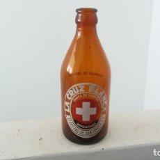 Botellas antiguas: BOTELLAS CERVEZA LA CRUZ BLANCA DE SANTANDER FÁBRICA MADRID VIGO CÁDIZ VALLADOLID SALAMANCA Y LEÓN. Lote 170308460