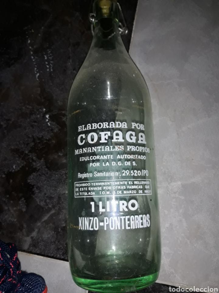 Botellas antiguas: Botella gaseosa fonte roca de ponteareas xinzo . Pontevedra - Foto 2 - 171102084
