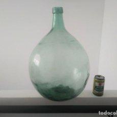 Botellas antiguas: ANTIGUA DAMAJUANA MODELO RARO DE 25 LITROS BOTELLA GARRAFA GRANDE DE VIDRIO . Lote 171149637