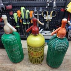 Botellas antiguas: LOTE DE 3 SIFONES. Lote 171522317