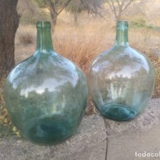 Botellas antiguas: ANTIGUA BOTELLA GARRAFA DAMAJUANA GRANDE DE 20 LITROS CRISTAL DECORACION VINTAGE. Lote 172141753
