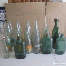 Botellas antiguas: LOTE DE 20 BOTELLAS ANTIGUAS DE AGUA Y MAS. Lote 172862288