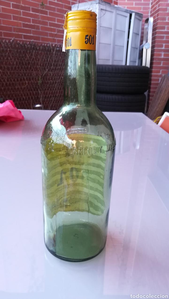 Botellas antiguas: Botella de 2 litros Brandy 501 - Foto 3 - 175699107